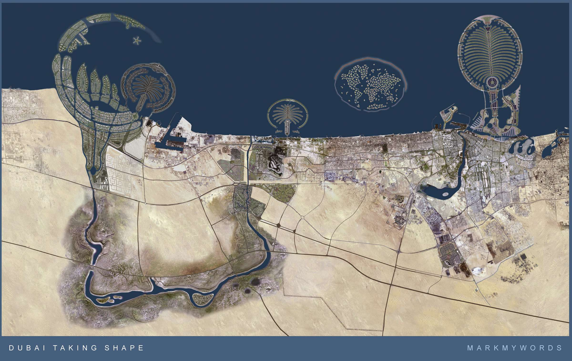 The artificial islands of dubai business booking for When was space made