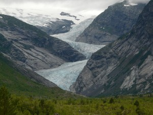 Norway national park glacier