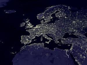 Europe bij nacht
